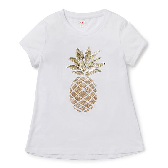 Sequin Pineapple SS Tee