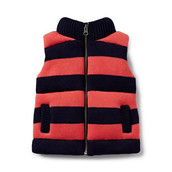 Stripe Knit Vest