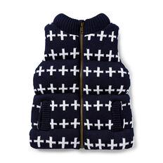 Cross Knit Vest