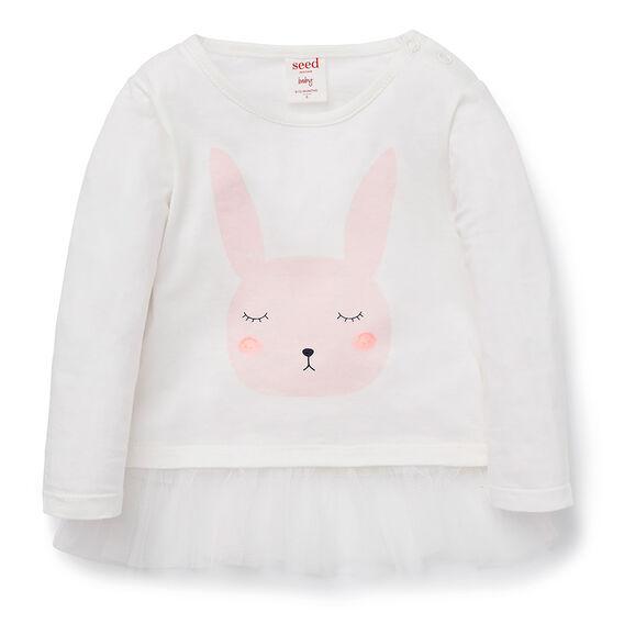 Bunny Peplum Tee