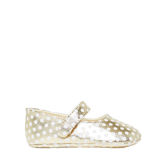 Gold Spot Mary Janes