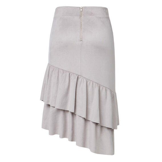 Suedette Frill Skirt