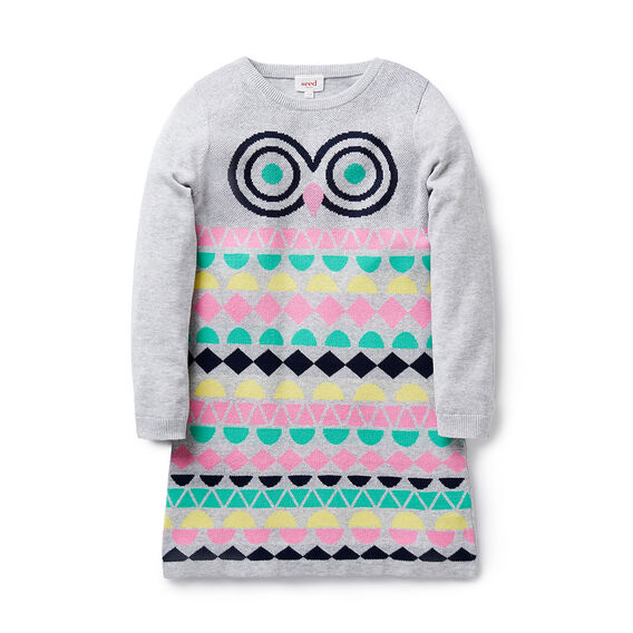 Owl Knit Dress