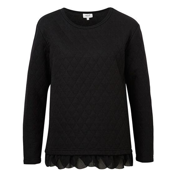 Quilt Detail Sweater