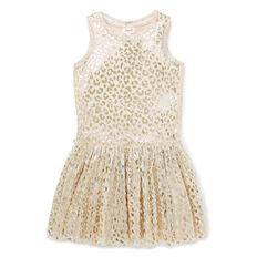 Ocelot Print Tulle Dress