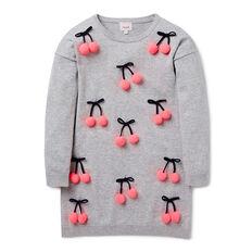 Cherry Pompom Knit Dress