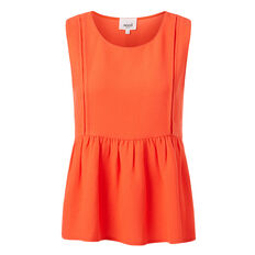 Cross Trim Peplum Top