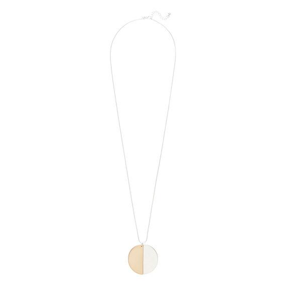 Split Disc Necklace