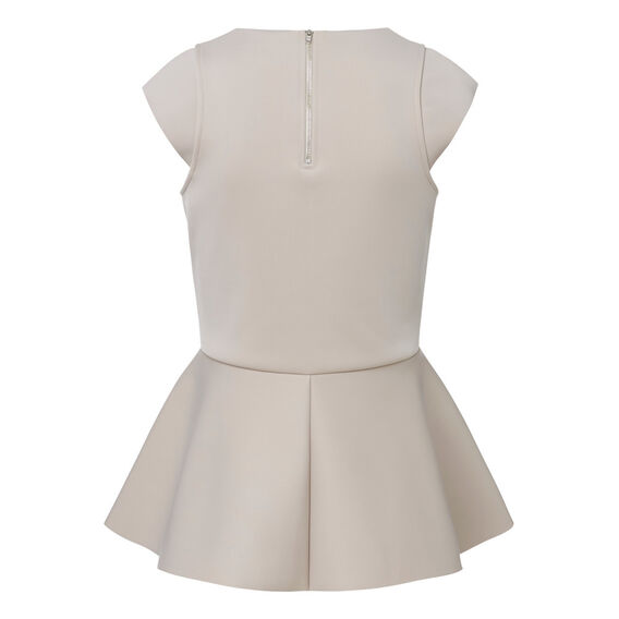 Peplum Scuba Top