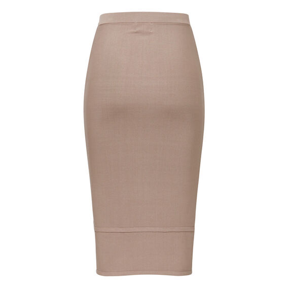Crepe Knit Trim Skirt