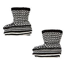Chunky Knit Stripe Bootie