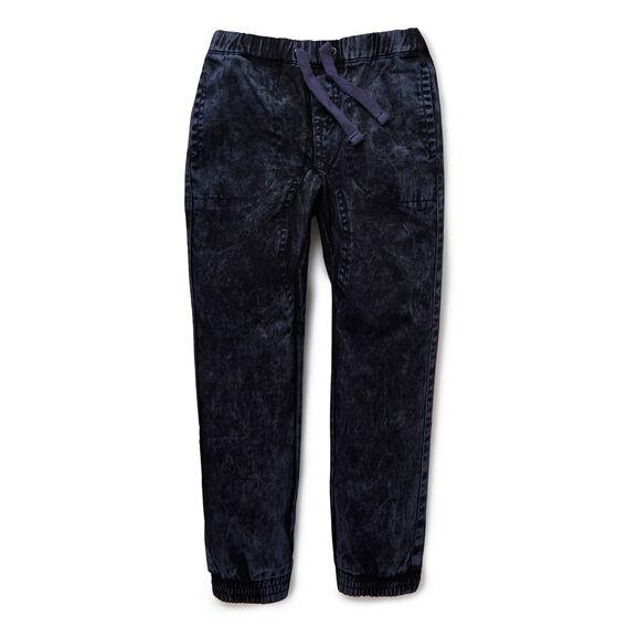 Elasticated Acid Wash Pant