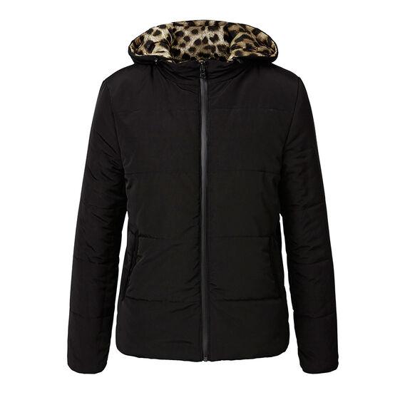Reversible Cheetah Puffer Jacket