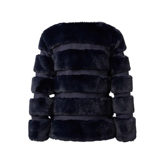 Fur Panel Coat