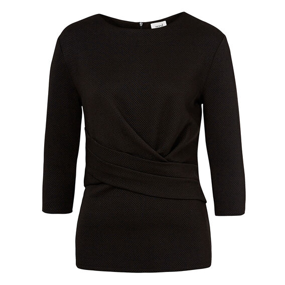Collection Wrap Front Peplum Top