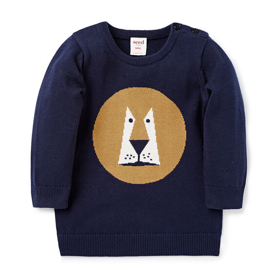 Lion Intarsia Sweater