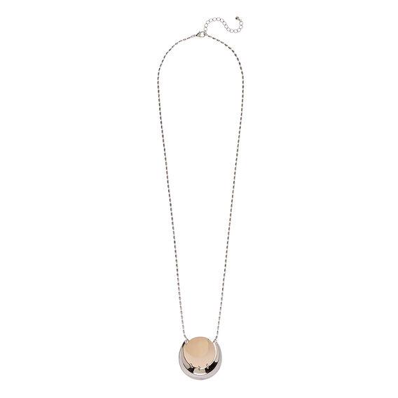 Mix Moon Pendant Necklace