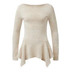 Collection Intarsia Crepe Peplum Sweater