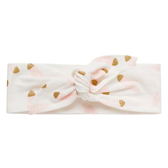 Glitter Feather Fabric Headband