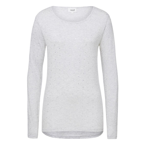 Long Sleeve Spotted Tee