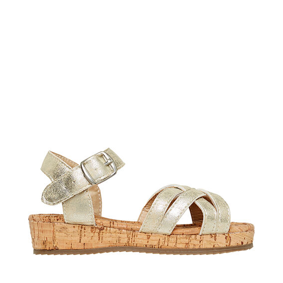 Gold Cork Sandal