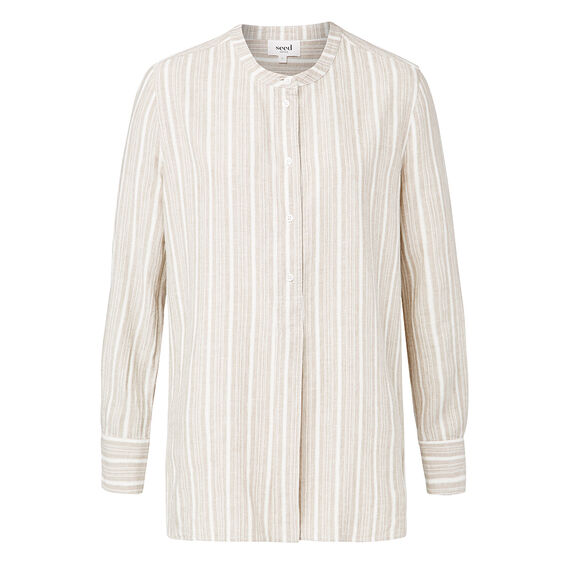 Mandarin Stripe Shirt