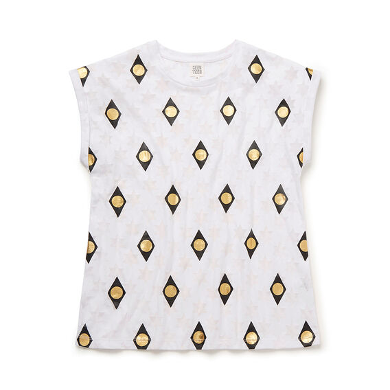 Foil Star Burnout Tee