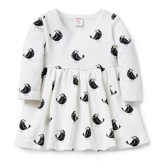 Bird Dip Hem Dress