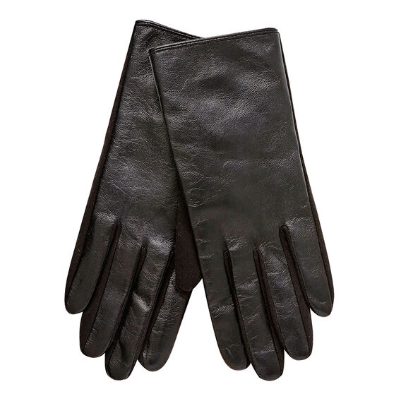 Spliced Leather Gloves