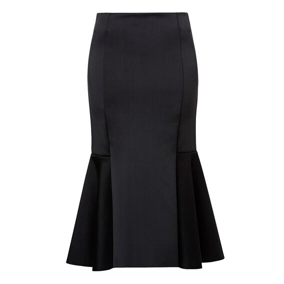 Frill Hem Midi Skirt