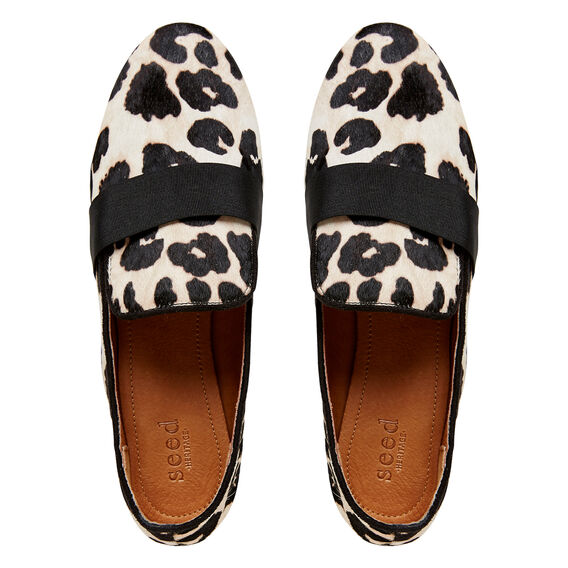 Tilly Leather Hair Loafer