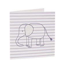 Stripe Elephant Card