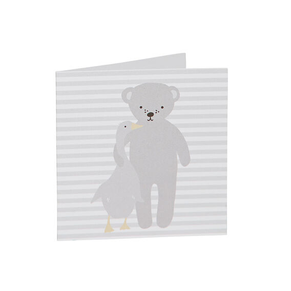 Teddy And Duck Card