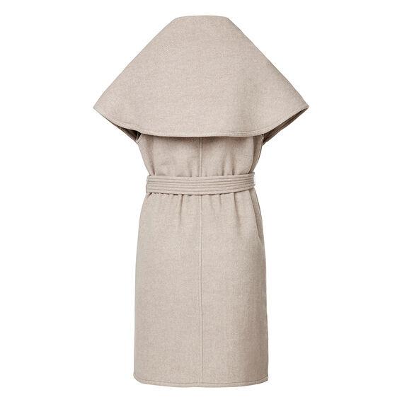 Sleeveless Wrap Coat
