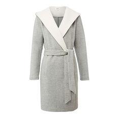 Contrast Wrap Coat