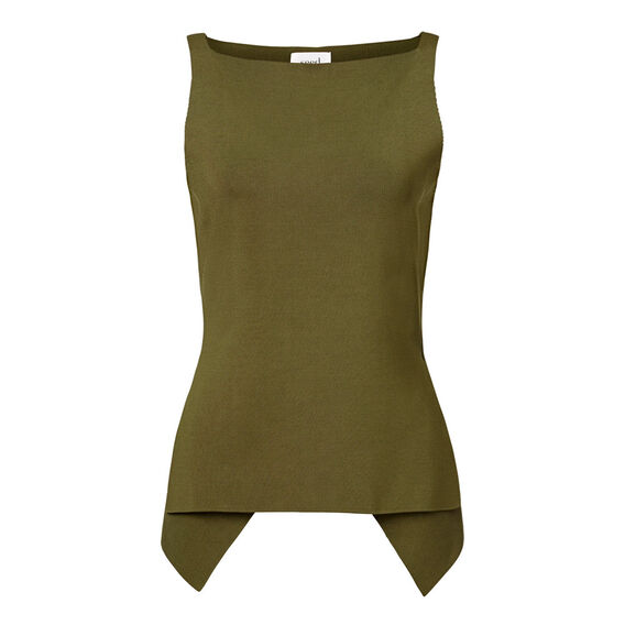 Collection Fitted Crepe Peplum Tank