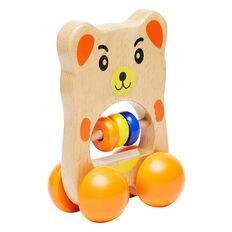 Wooden Wheelie Bear