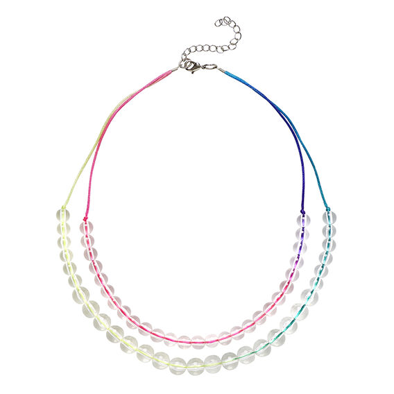 Fluro & Clear Necklace