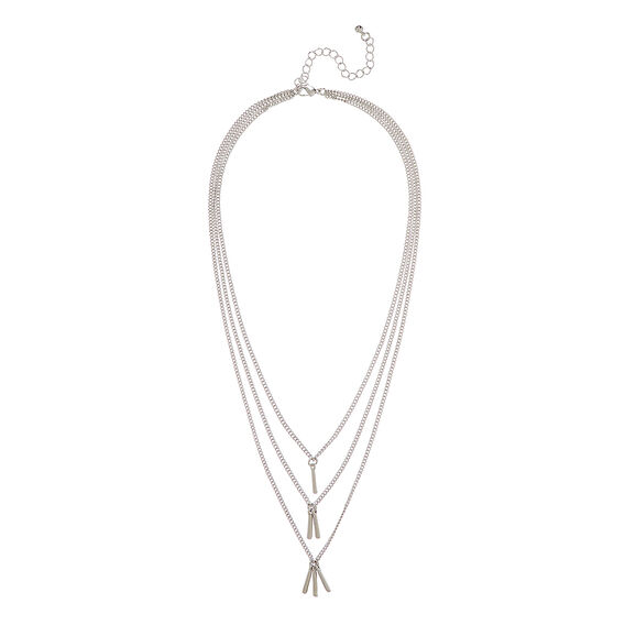 Tiered Bar Detail Necklace