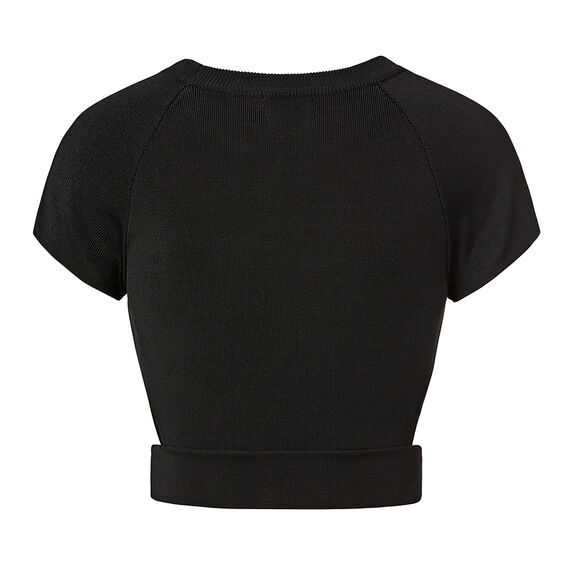 Collection Cut Out Crepe Crop Top
