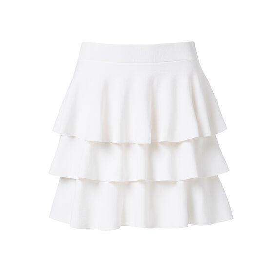 Frill Crepe Skirt