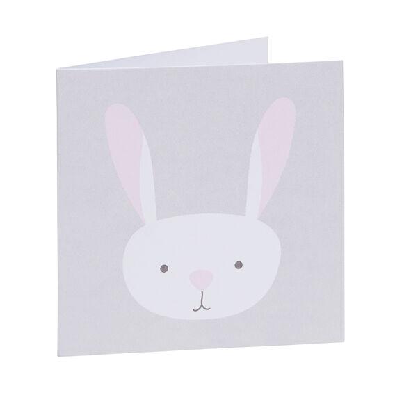 Pink Bunny Face Card