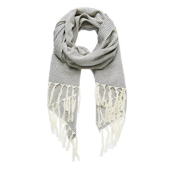 Textured Stripe Weave Scarf