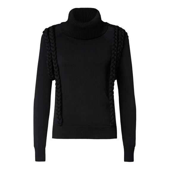 Plaited Crepe Sweater