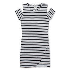 Cold-Shoulder Rib Dress