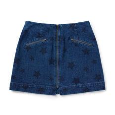 Star Denim Skirt