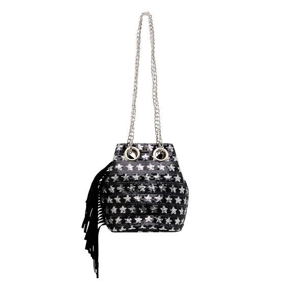Sequin Bucket Bag
