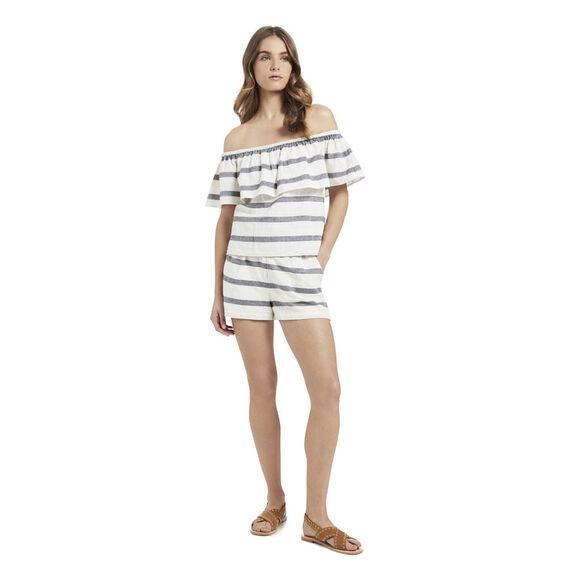 Stripe Gather Waist Short