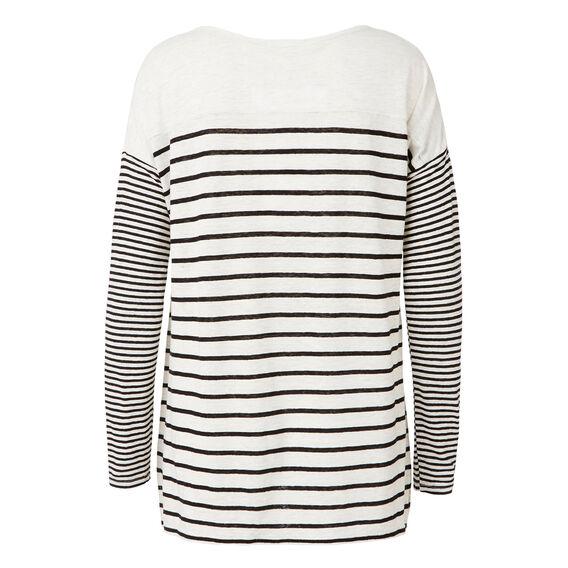 Breton Stripe Linen Top