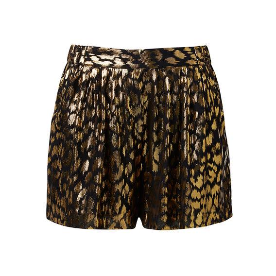 Gold Leopard Print Short
